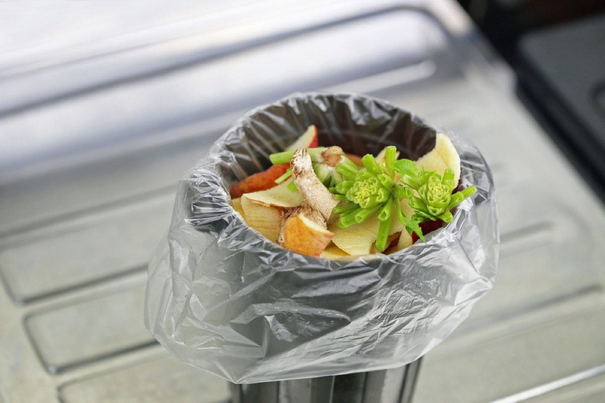 kitchen trash can, second uses for cleaning products