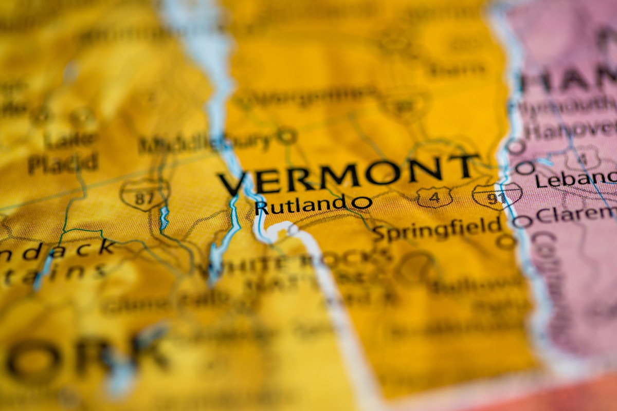 vermont geographical map state natural wonders
