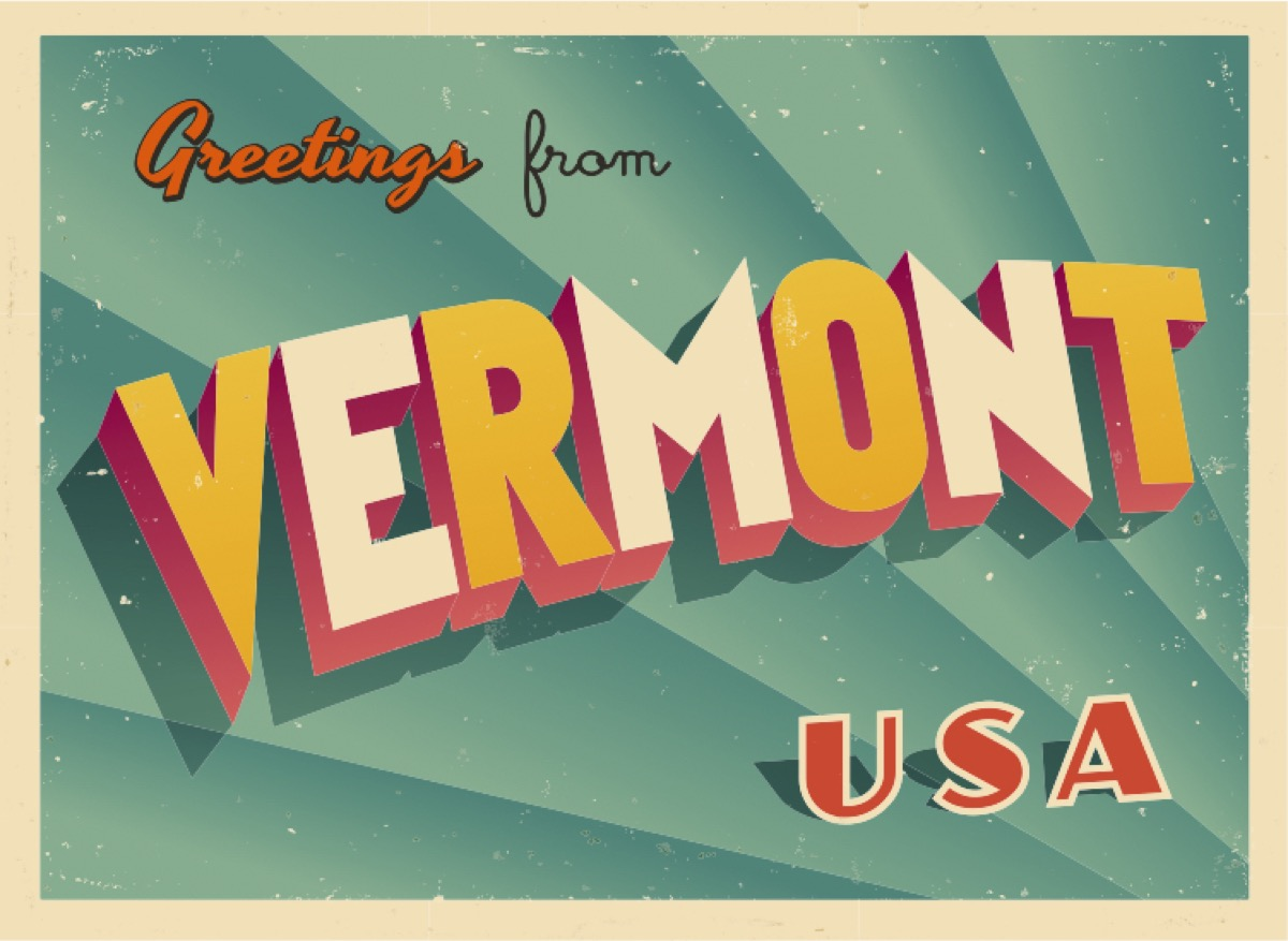 vermont postcard famous state statues