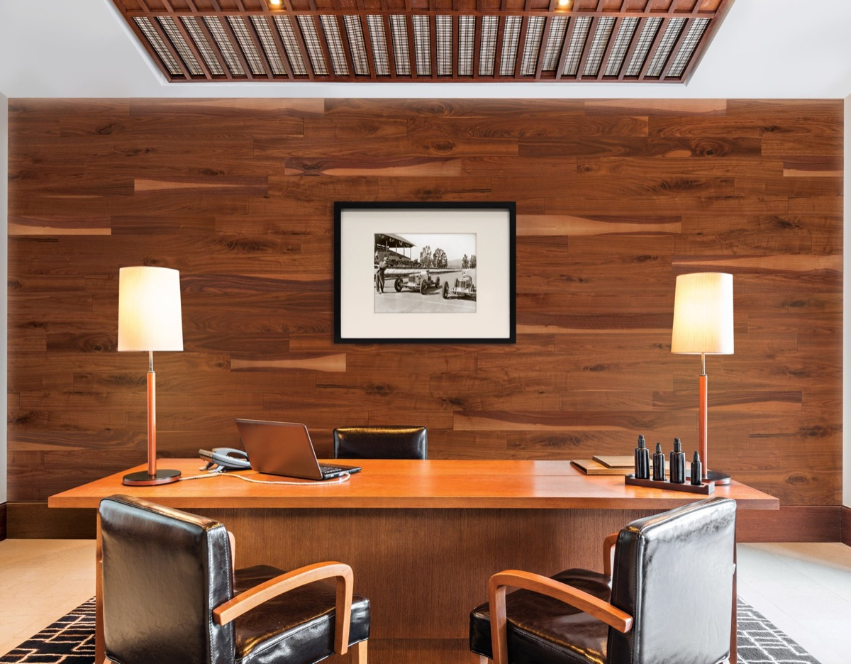 walnut wood paneling vintage home features