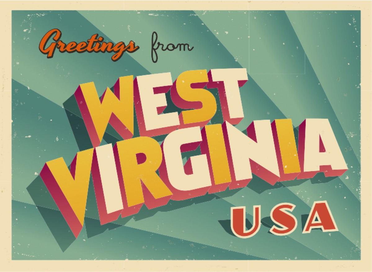west virginia postcard famous state statues