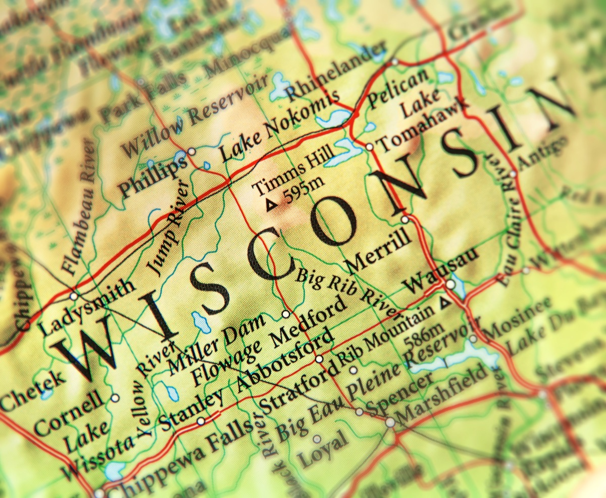 wisconsin geographical map state natural wonders