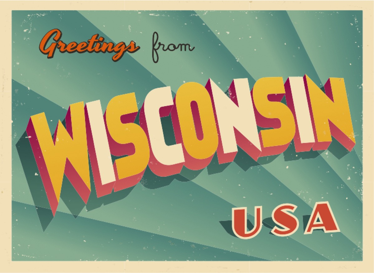 wisconsin postcard famous state statues