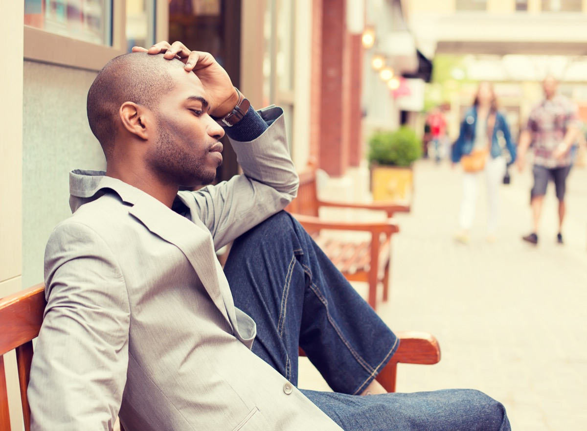 worried man on bench habits ruining your heart
