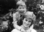 DIANA, PRINCESS OF WALES with Prince William in 1989