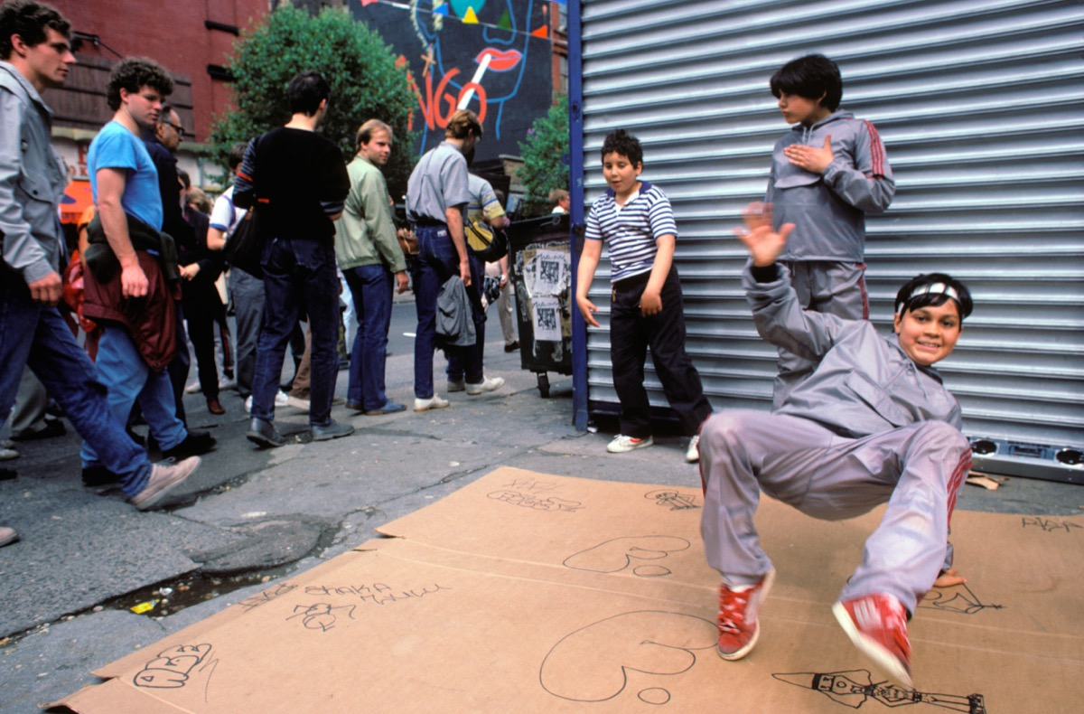 1980s breakdancers in the east village in nyc