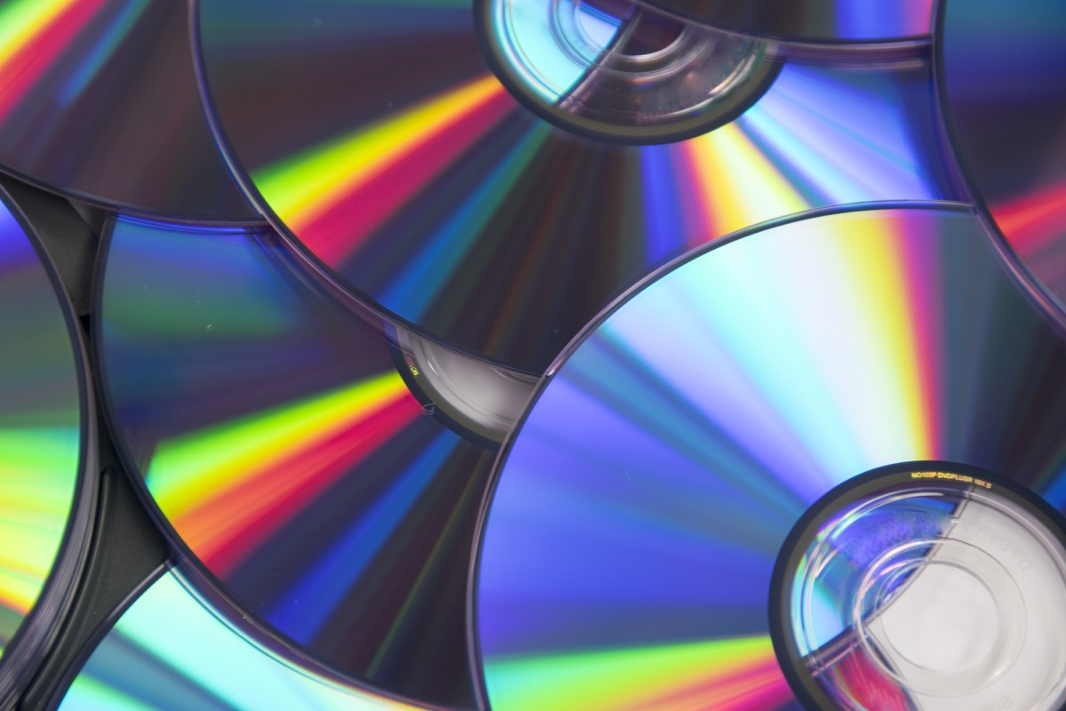 Stack of CDs Old Classroom Objects