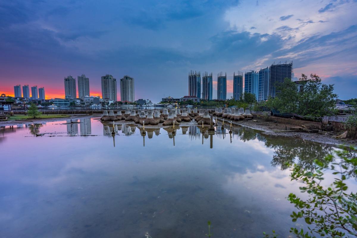 North Jakarta at sunset