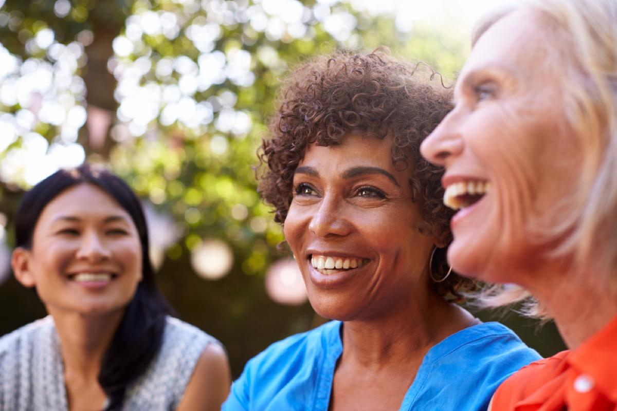 Older women smiling