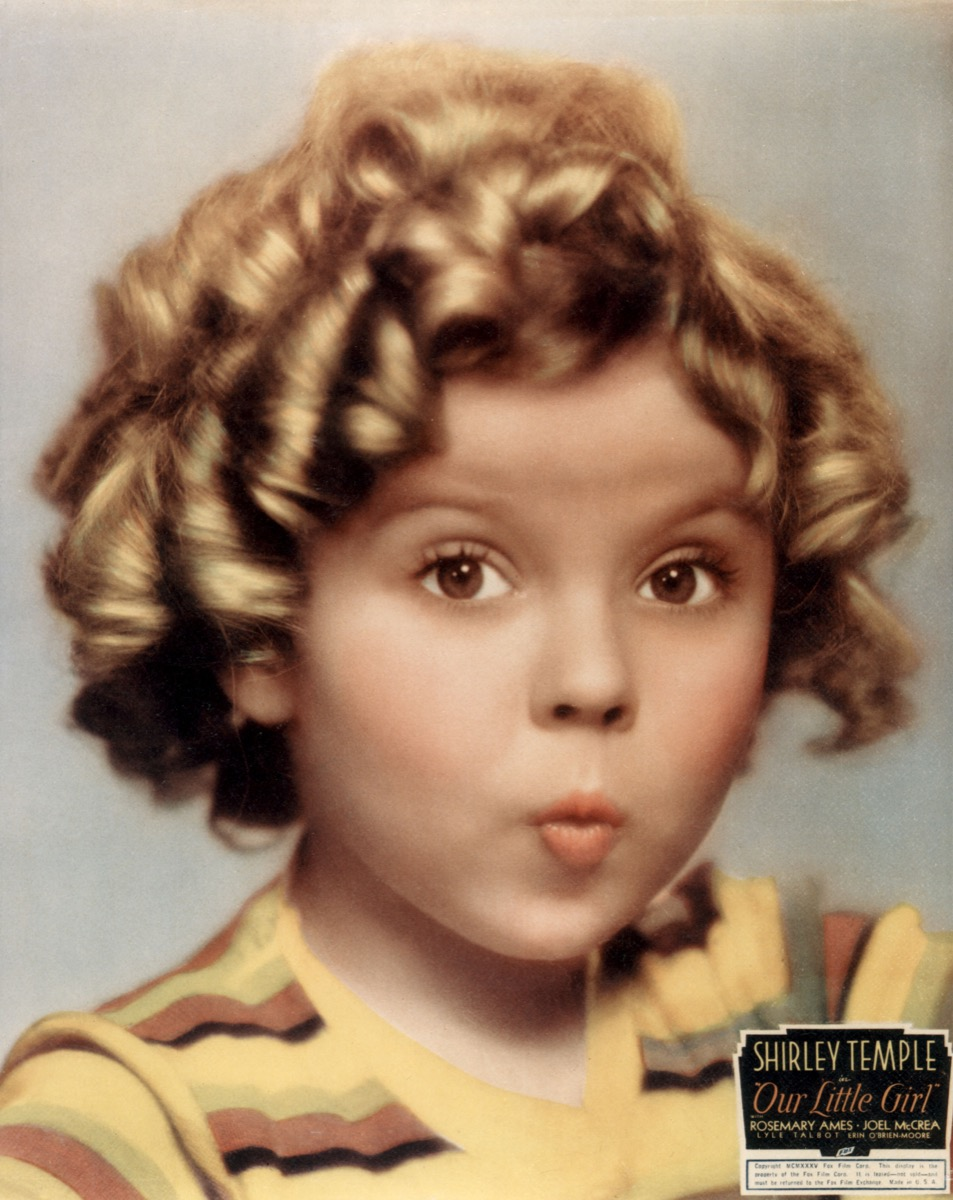Shirley Temple in the 1935 Fox film Our Little Girl