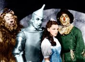 The Cowardly Lion, the Tin Man, Dorothy, and Scarecrow in 1939's classic, The Wizard of Oz, which got bad reviews
