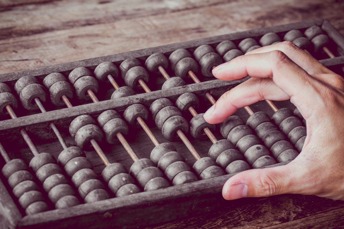 Abacus Old Classroom Objects