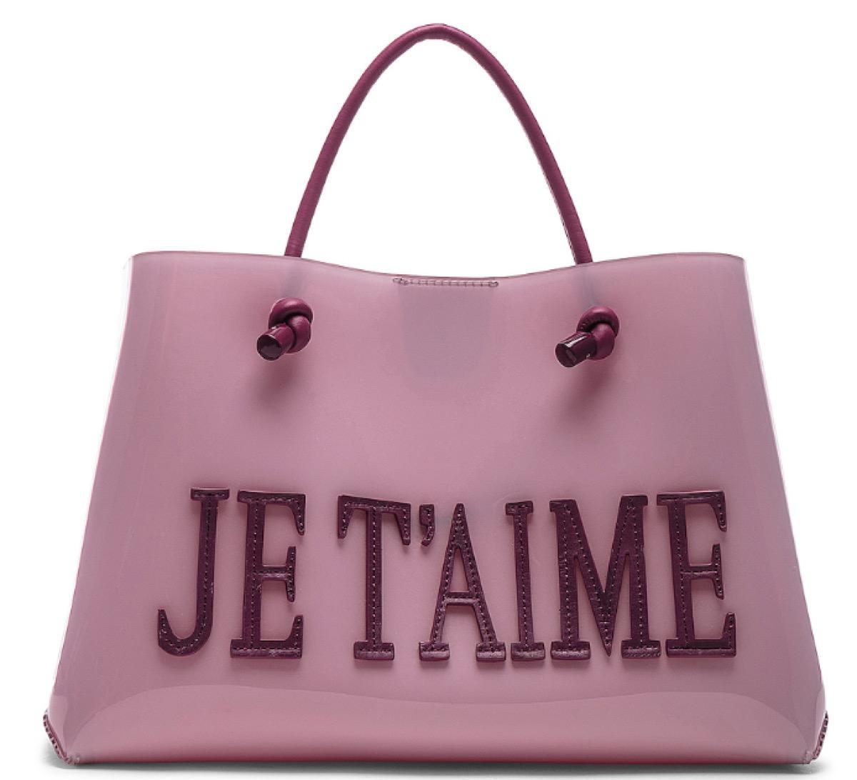 pink tote, luxury beach bags