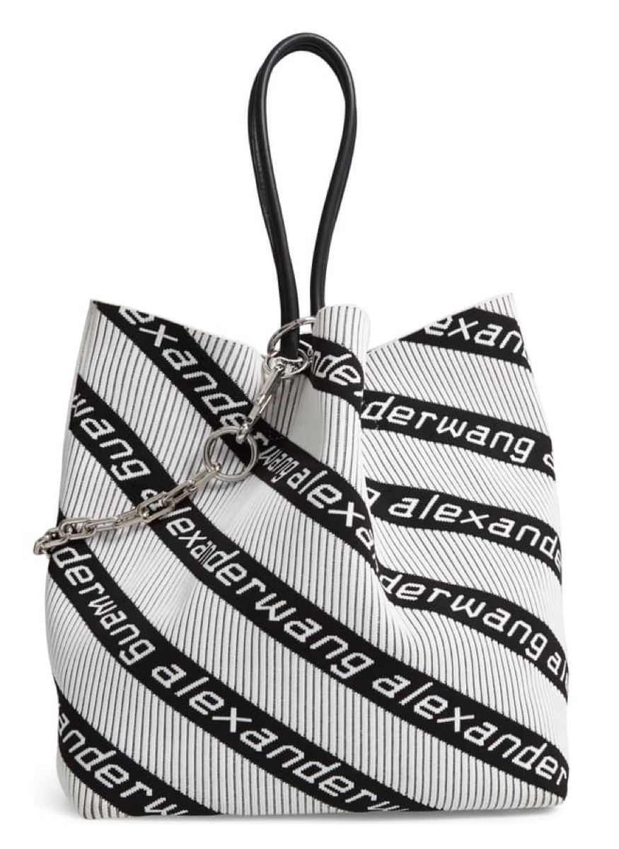 striped tote, luxury beach bags