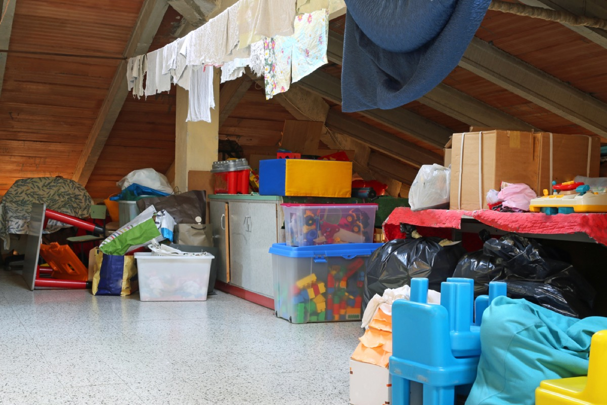 boxes and clothing stored in attic things in your house attracting pests