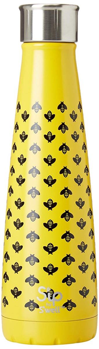 bee water bottle, cute water bottles