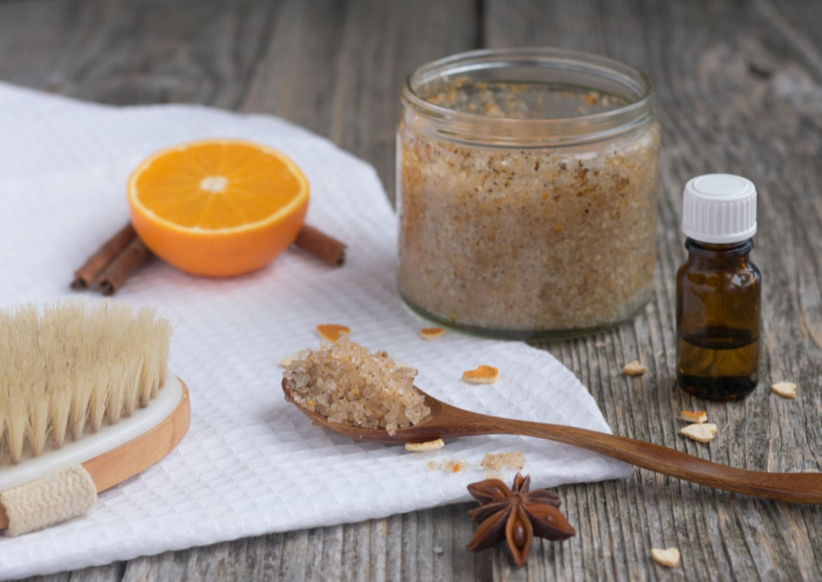 salt essential oil, diy foot scrub easy homemade