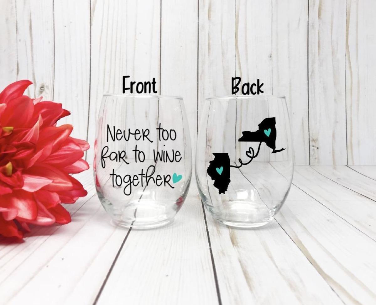 best friend wine glasses, best friend gifts