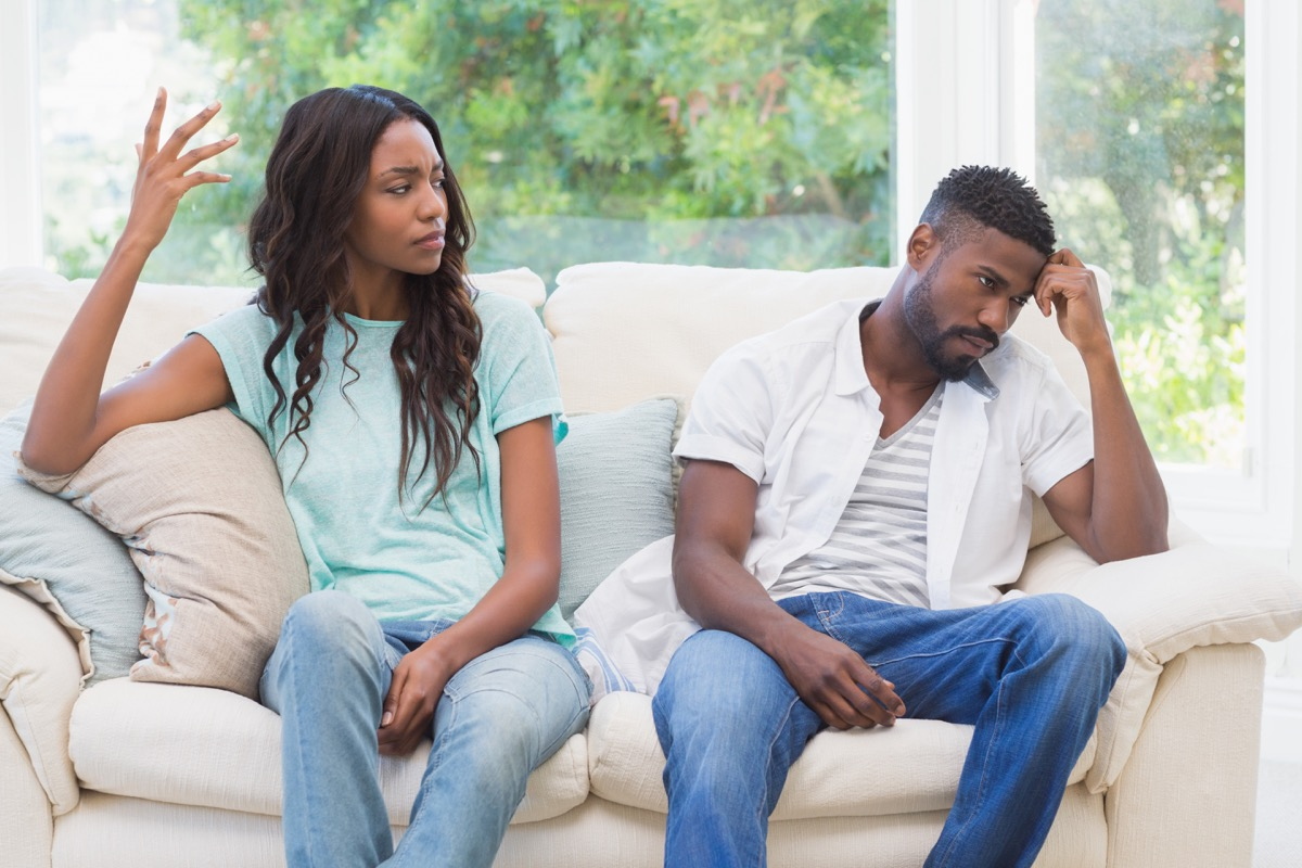 african american couple fighitng things you should never say in an argument with your spouse
