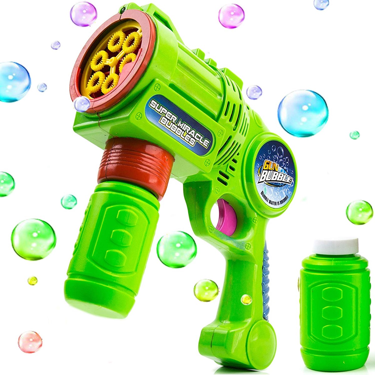 green bubble machine, best outdoor toys for toddlers