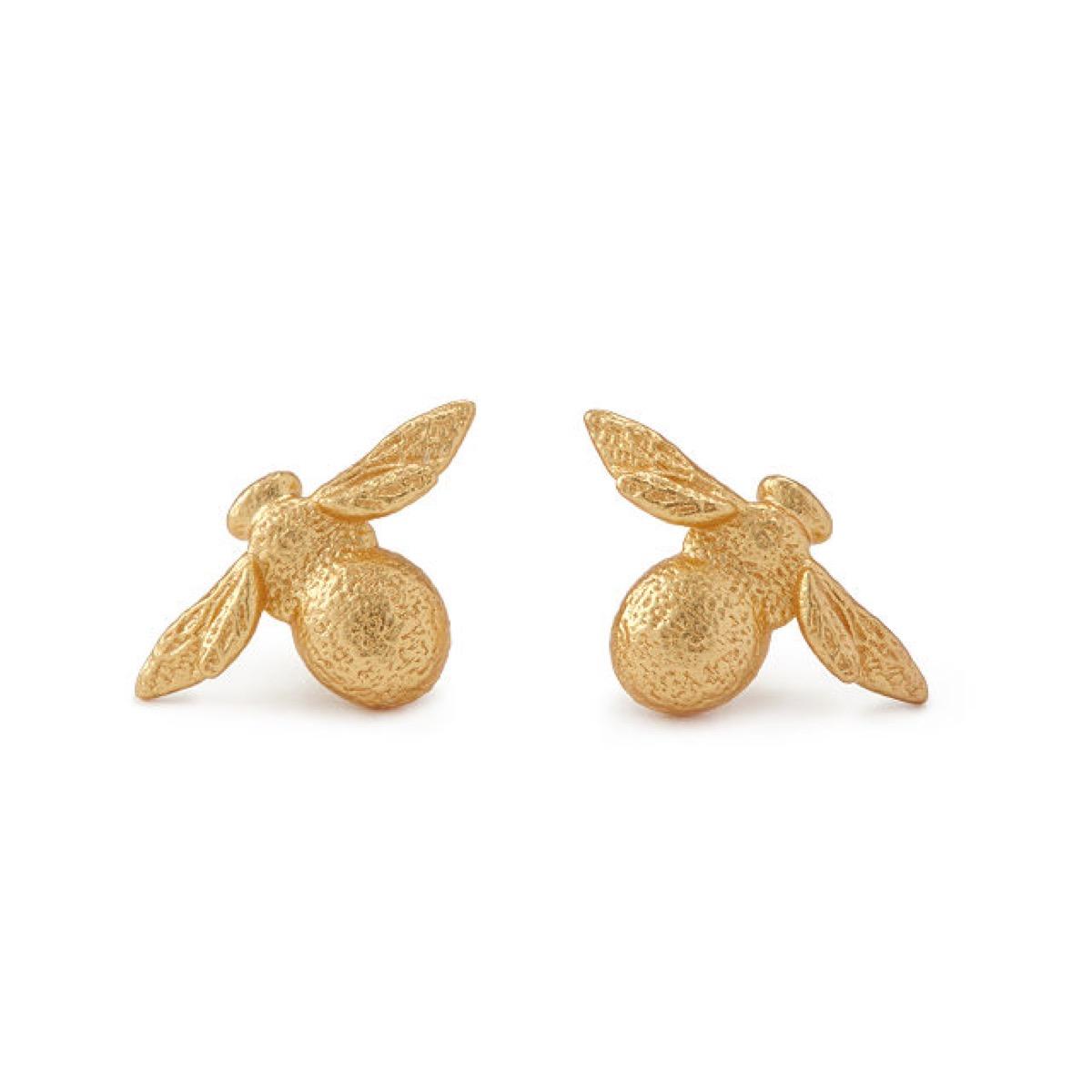 gold bee earrings, best gifts for girlfriend