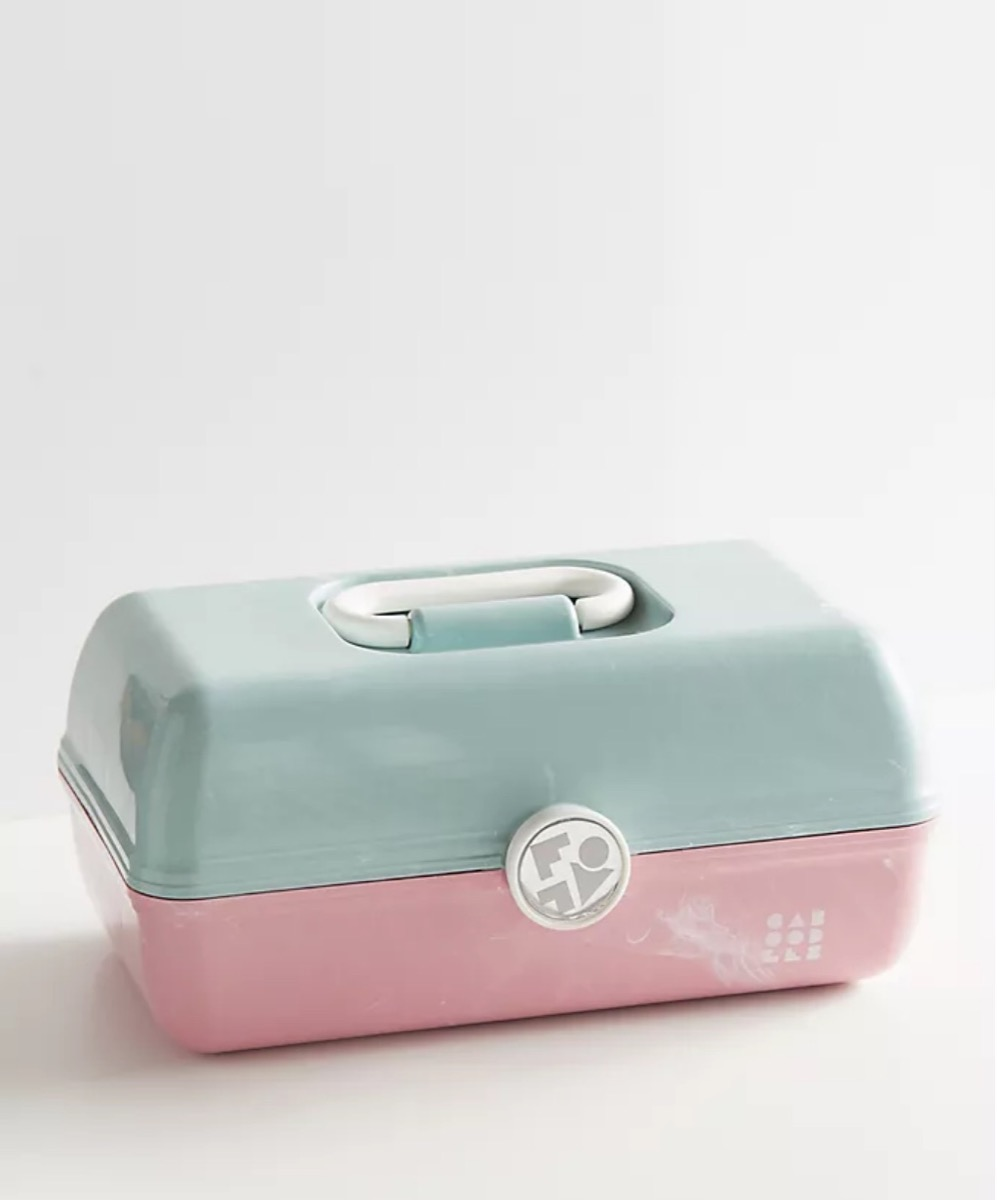 pink and green Caboodle box, best gifts for girlfriend