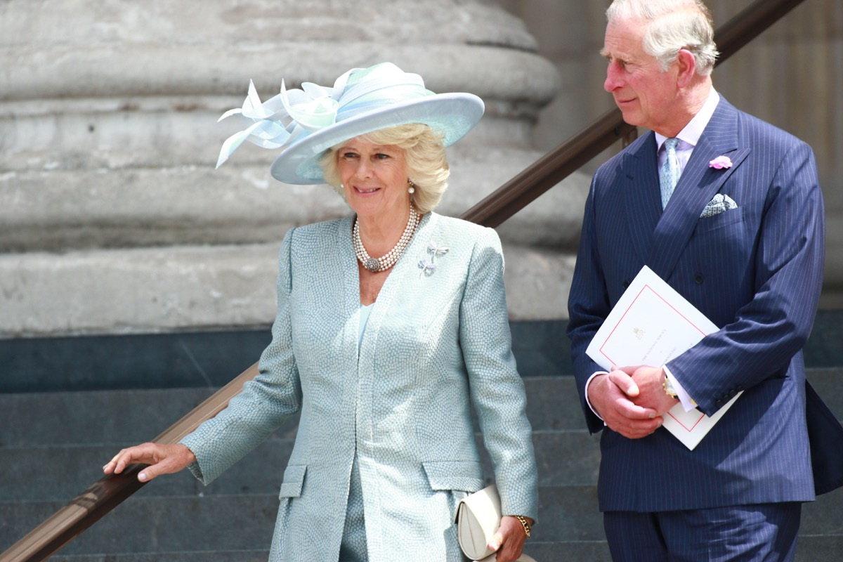 Camilla, Duchess of Cornwall, and Prince Charles, Prince of Wales attending a National Service of Thanksgiving at St. Paul's Cathedral to commemorate HM Queen Elizabeth II 90th birthday. Credit: Paul Marriott/Alamy Live News