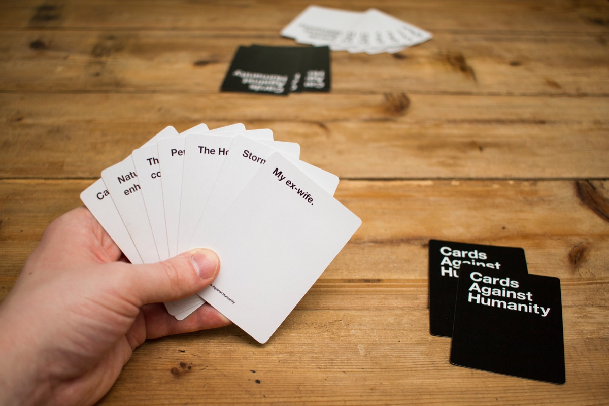 Cards Against Humanity hand