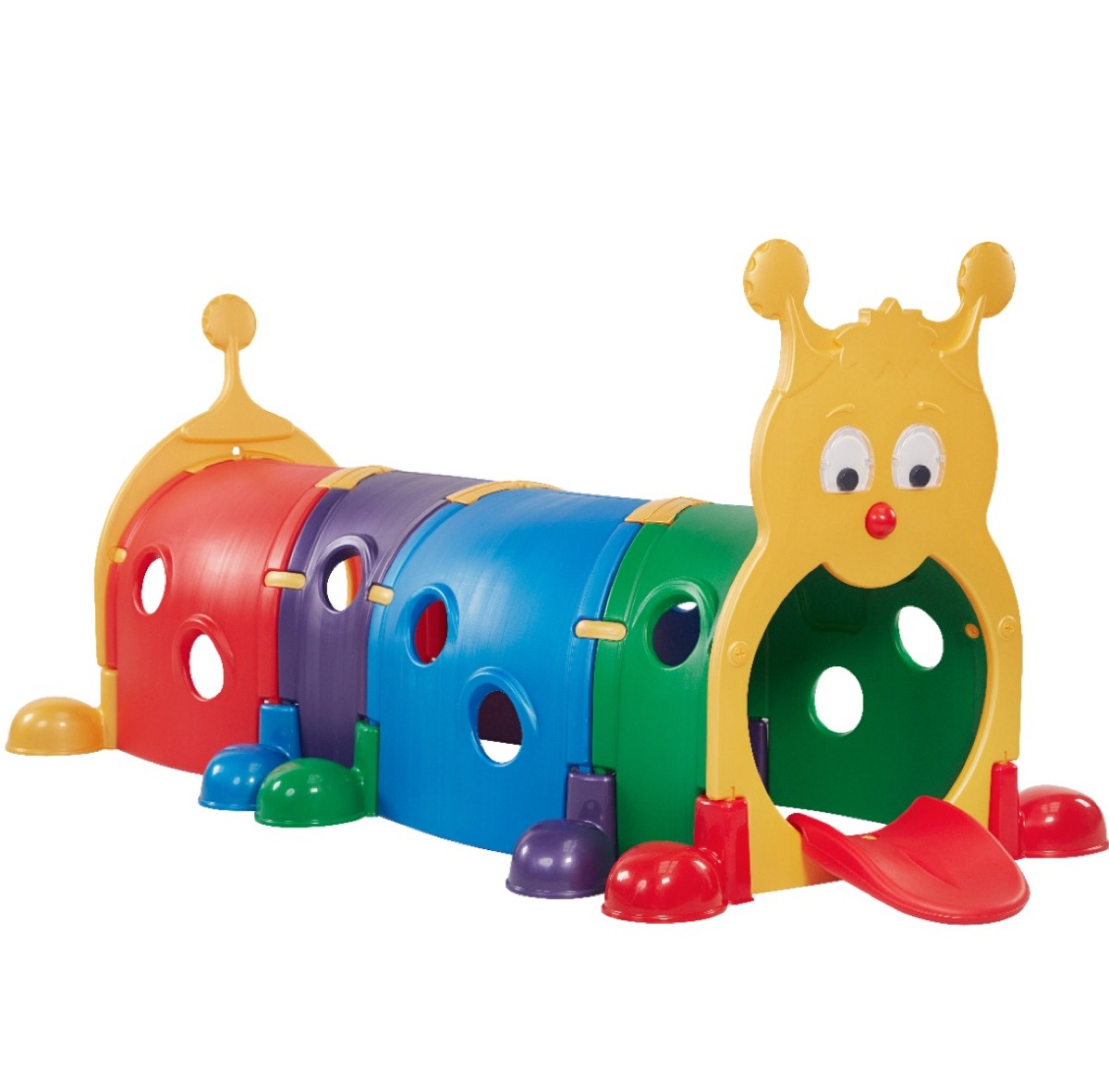 colorful caterpillar play tube, best outdoor toys for toddlers