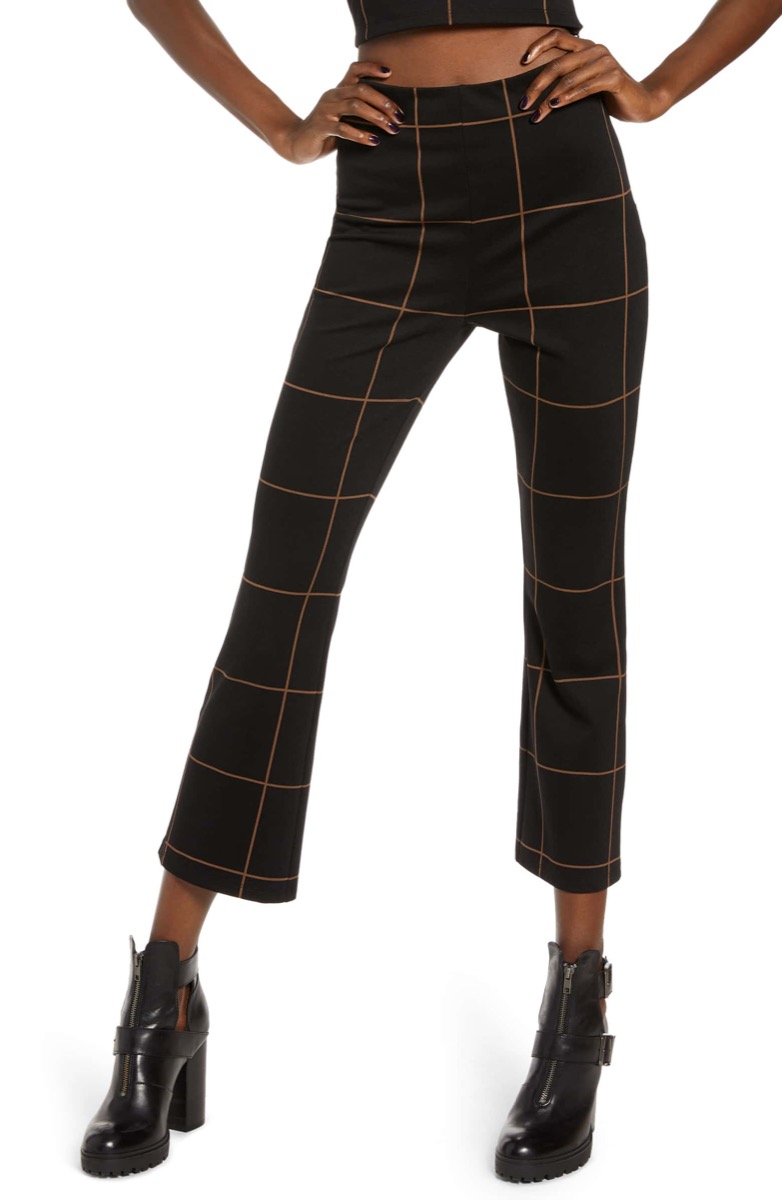 high waisted checked pants, Nordstrom anniversary sale
