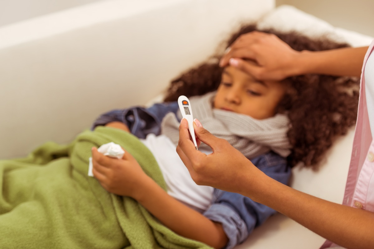 child getting sick with the flu, classroom germs