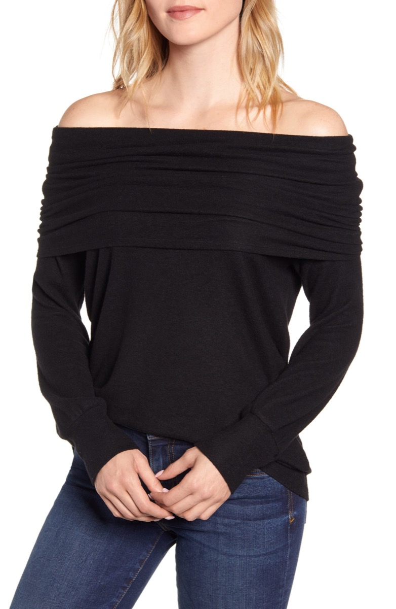 black sweatshirt, Nordstrom anniversary sale