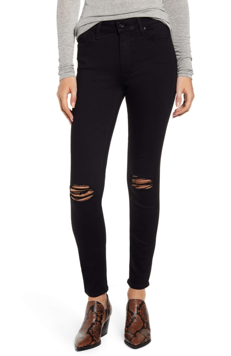 black ripped jeans, Nordstrom anniversary sale