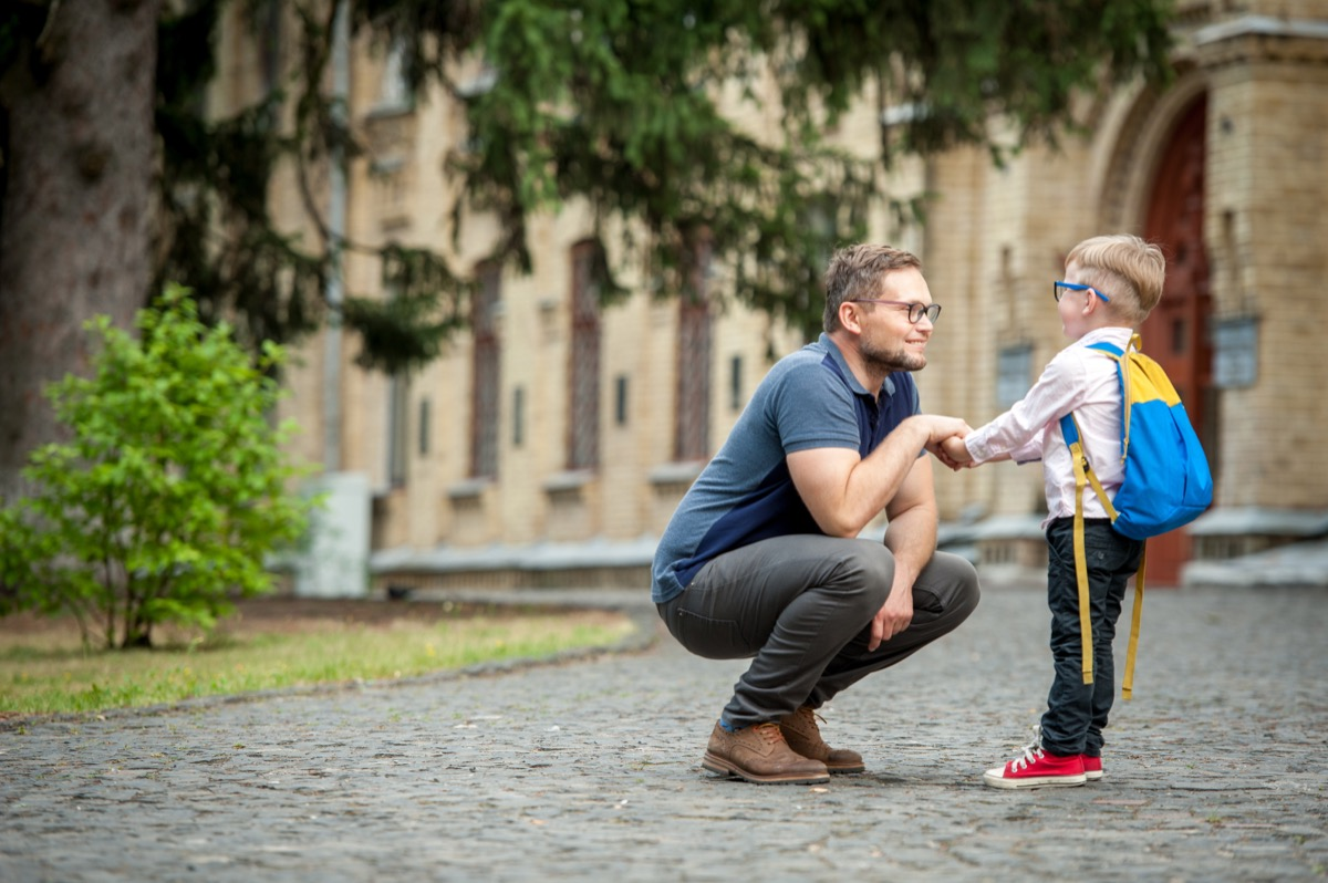 dad dropping off son at school back-to-school tips