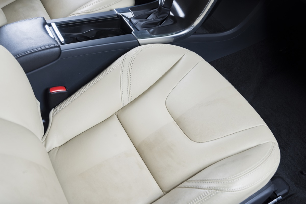dirty leather car seat, new uses for cleaning products