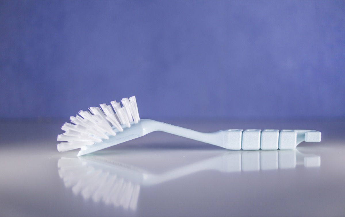 dish brush on kitchen counter, new uses for cleaning products