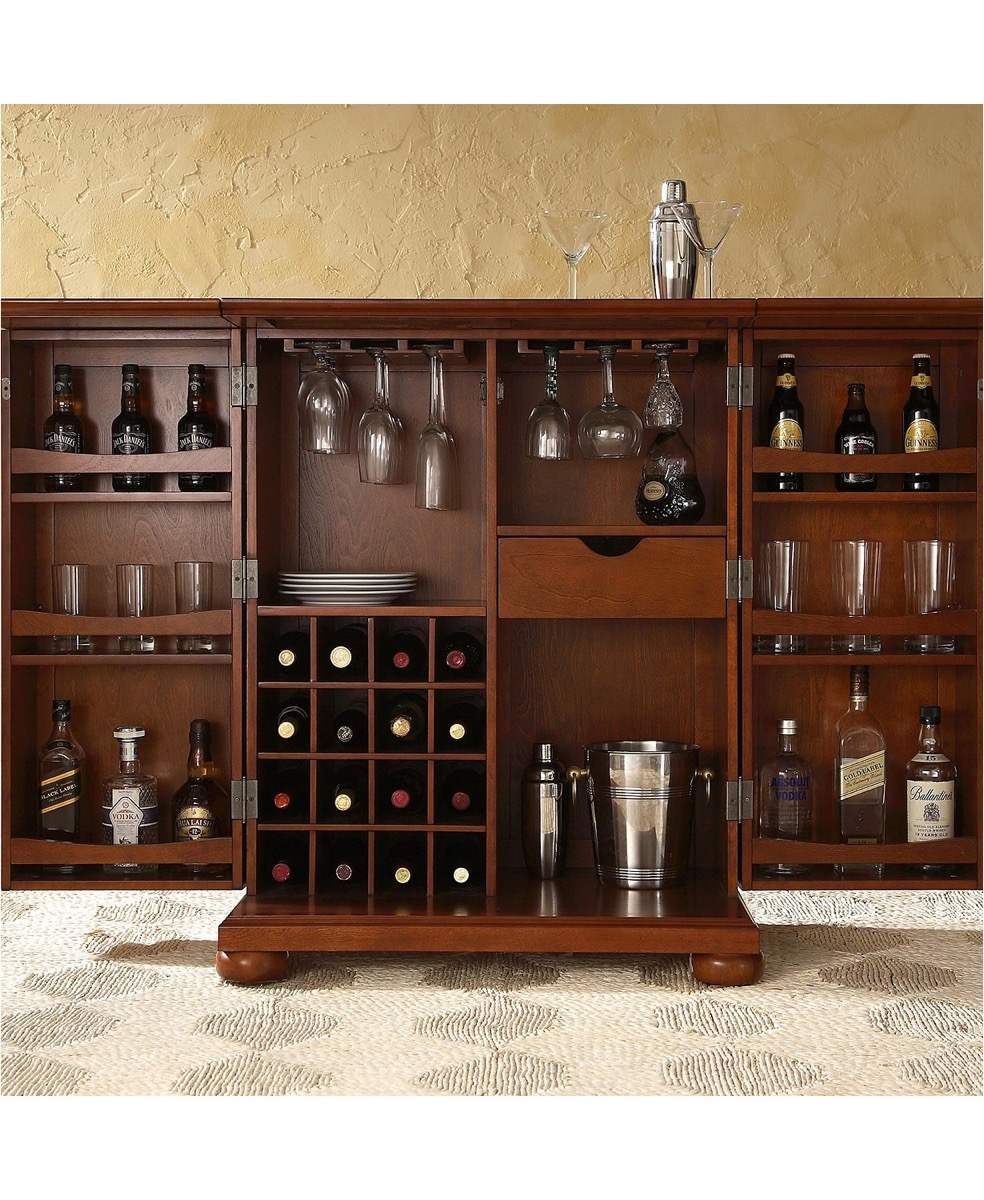 Expandable Bar Cabinet Storage Furniture
