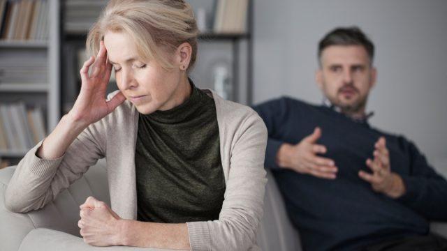Fighting Couple Having an Argument Lies Ex-Spouses