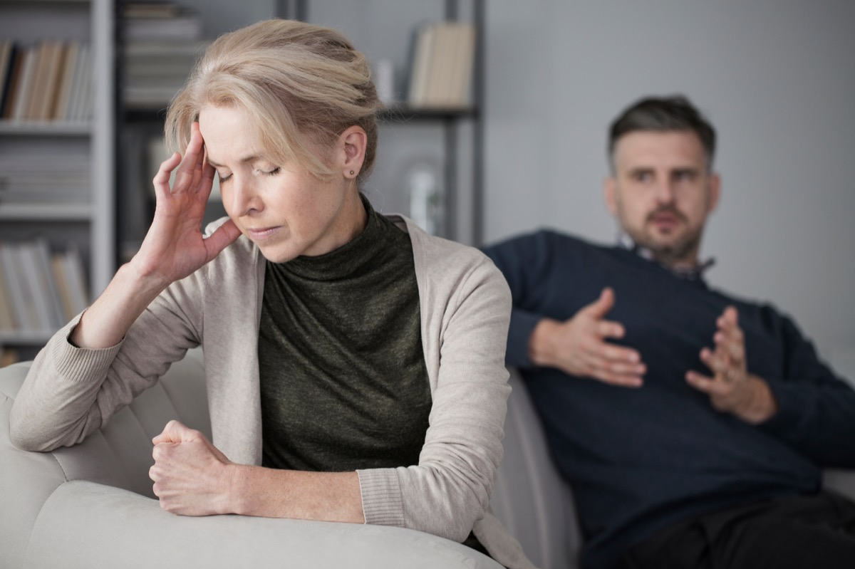 Fighting Couple Having an Argument things you should never say in an argument with your spouse