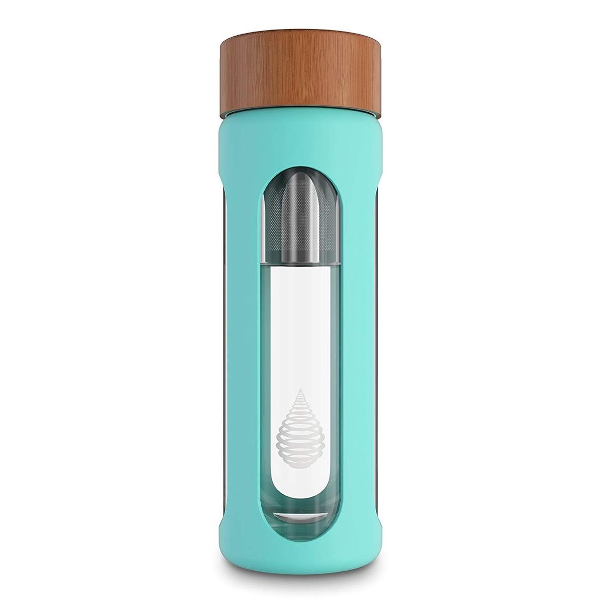 turquoise filter bottle, cute water bottles