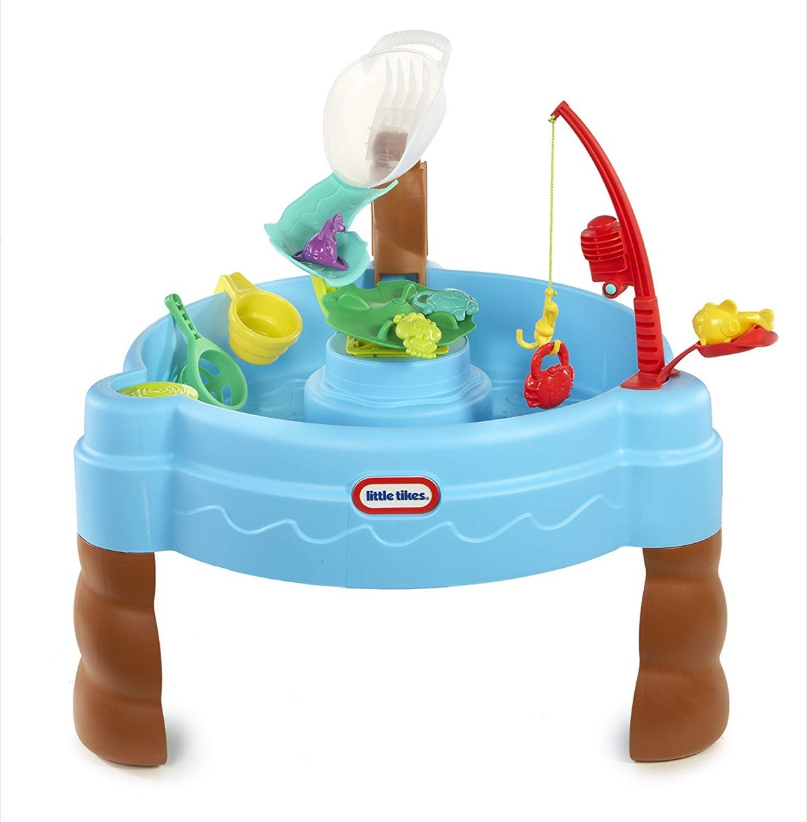 fishing inspired water table, best outdoor toys for toddlers