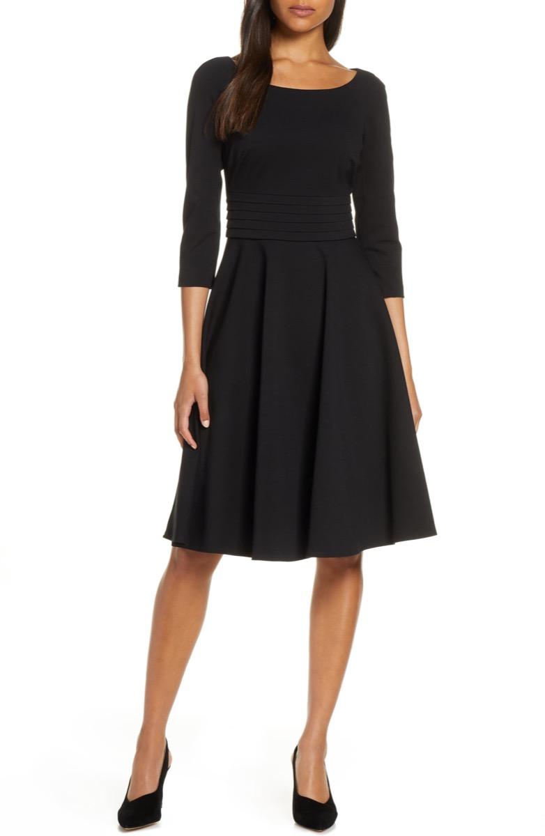 pleated black dress, Nordstrom anniversary sale
