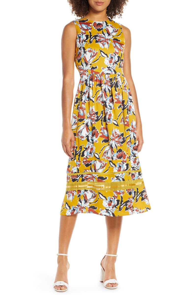 yellow floral dress, Nordstrom anniversary sale