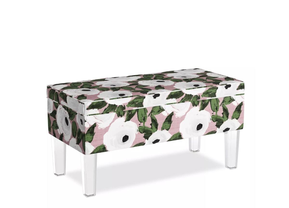 Floral Storage Bench Storage Furniture