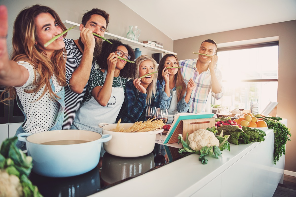 a group of friends with a serious passion for food