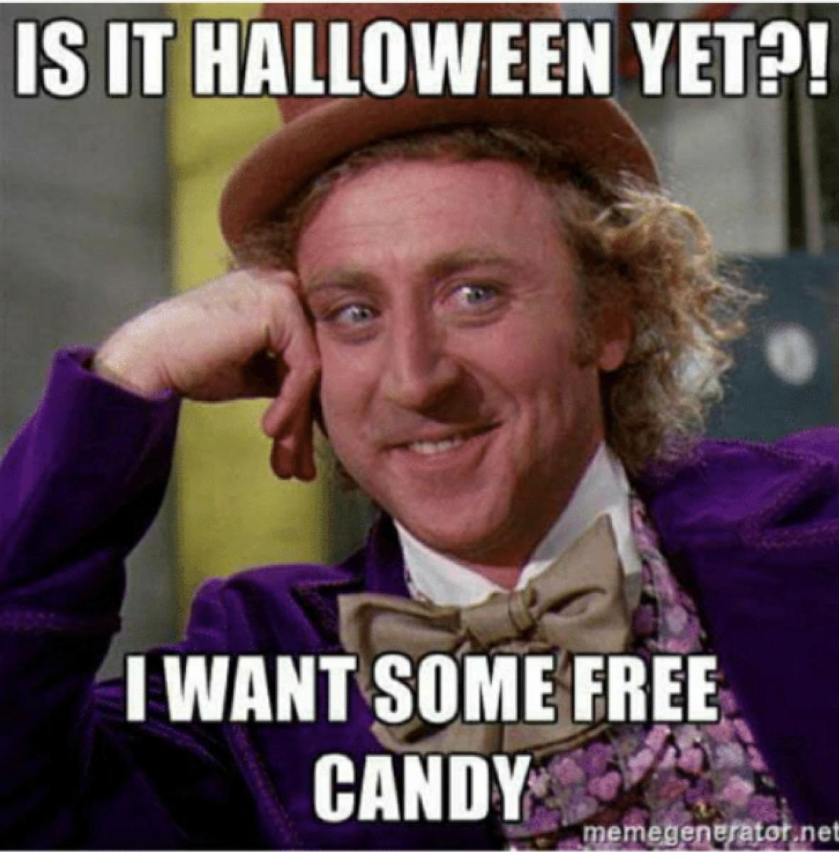 funny halloween meme free candy
