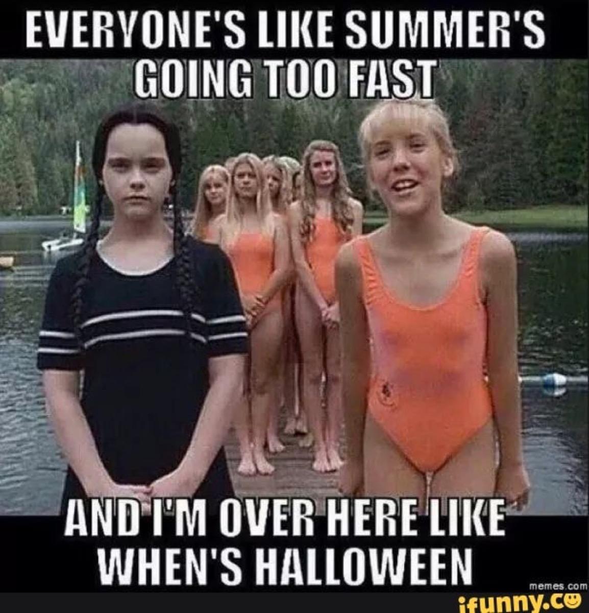 halloween memes wednesday adams