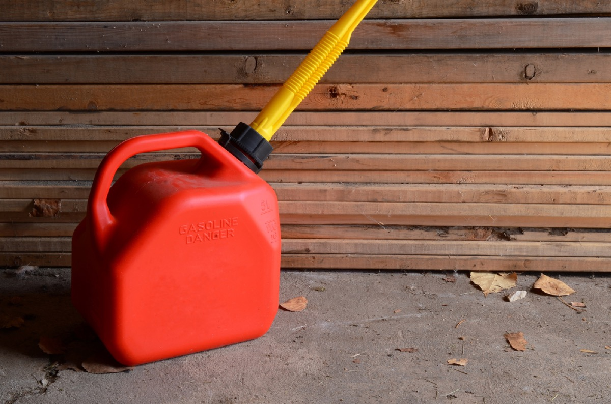 gas can, things you should never store in your basement