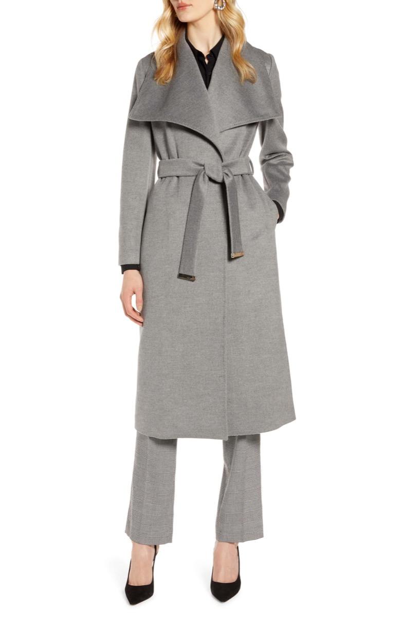 gray wool wrap coat, Nordstrom anniversary sale