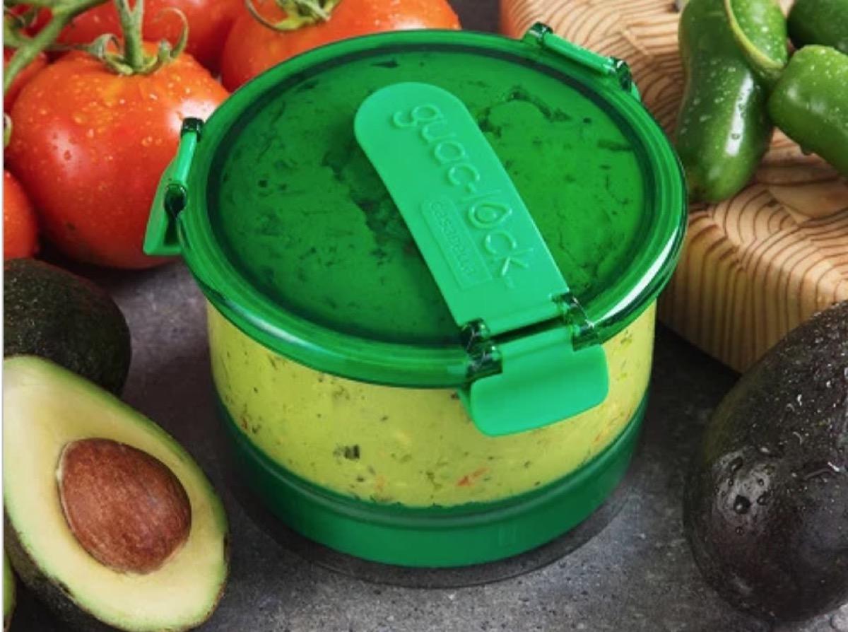 guacamole preservation container, picnic essentials